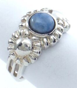 Vintage-Women-Ladies-Size-7-US-Turquoise-Stone-Sterling-Silver-925-Ring-G611