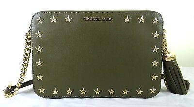 MICHAEL Michael Kors Black Ginny Leather Crossbody Bag | Jules B