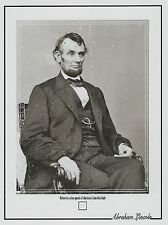 ABRAHAM LINCOLN worn owned personal HAIR STRAND tiny DUST SPECK sized relic
