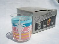 4 D.o.f. Glasses Palm Trees Encounters Div Of Culver Acrylic Oasis (a89)