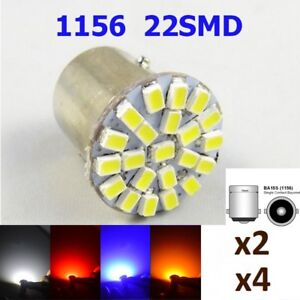 Bombillas-LED-P21W-BA15S-5050-22SMD-5W5-1156-DC12V-Colores-Variados