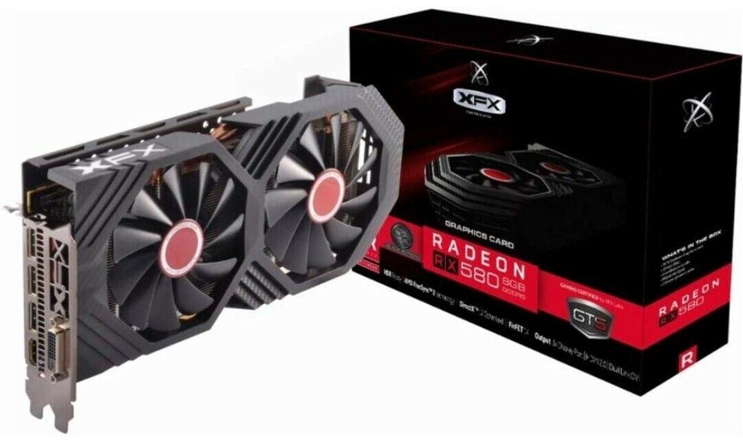 ✅BRAND NEW✅ XFX AMD Radeon RX 580 GTS Black Edition 8GB Graphics Card GDDR5 🔥