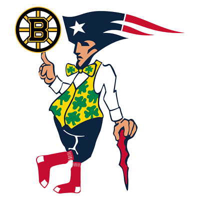 Boston Guy Sport Teams Celtics Red Sox Bruins Mash Up Car Vinyl Sticker Decal