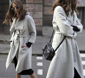 7423d272f704 Authentic!!! Size S - ZARA HAND MADE COAT LONG GRAY WRAP COAT ...