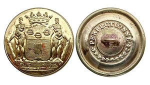Plat vers 1860 27 mm Bouton de Livrée- Marquis DE MALET DE COUPIGNY France
