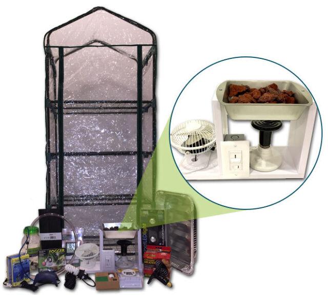 Mushroom Ecosphere Growing Kit - Custom Heated Greenhouse - Complete Grow System