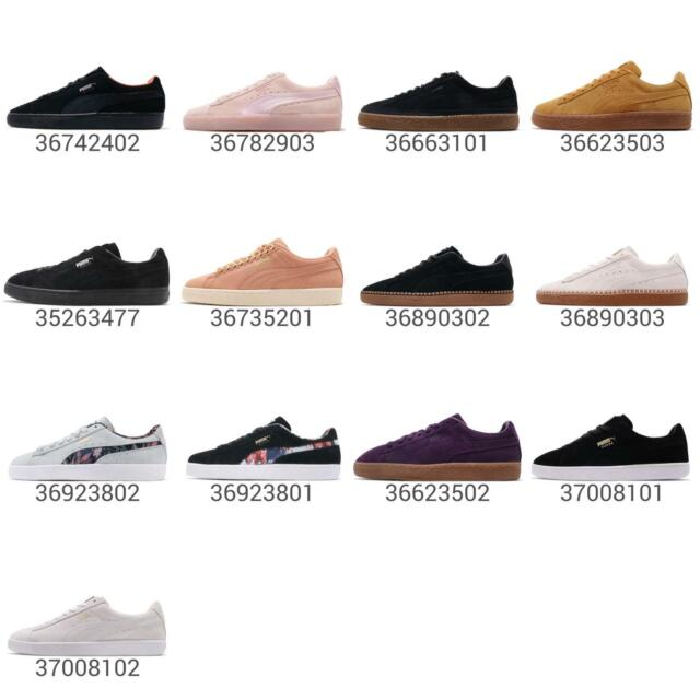 Details about Puma Suede Classic Black Gold White Men Casual Shoes Sneakers 352634 87