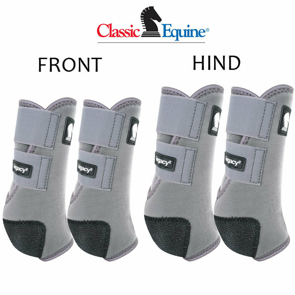 Classic Equine Legacy2 Horse Front Hind Sports Stiefel 4 Pack grau U-2SGY