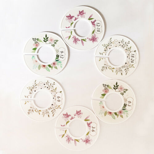 Details about  /6Pcs Round Clothes Size Rack Ring Closet Divider Organizer Baby Garment Display