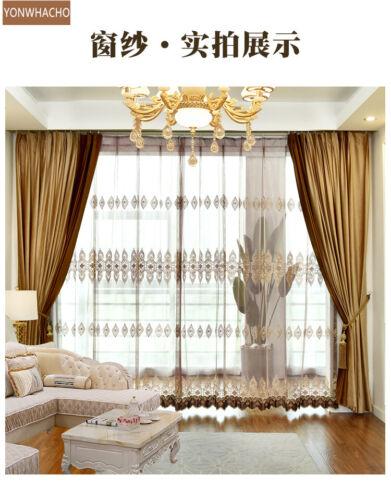 European high-end court velvet gold cloth blackout curtain valance drape B590*