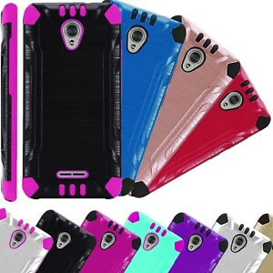 more photos f5cc7 cf5c6 Details about For Alcatel CameoX / Cameo X AT&T Phone Case 5044R Brushed  Hybrid Cover Combat