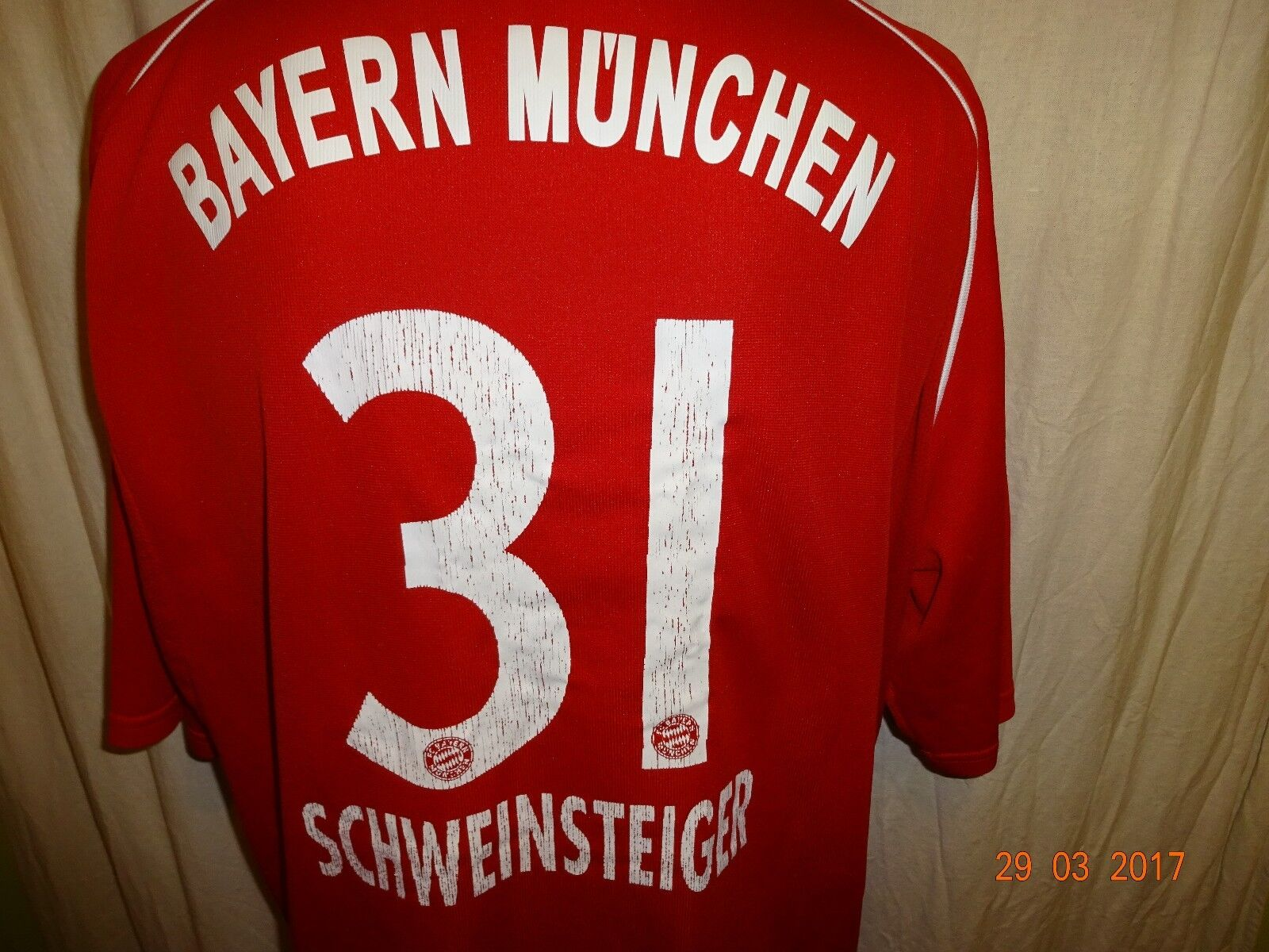 FC Bayern München Original Adidas Trikot 2005 06 06 06 + Nr.31 Schweinsteiger Gr.XXL 01317b
