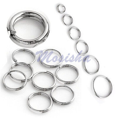 LOT 300X Stainless Steel Double Loop Split Open Jump Rings Connector Finding M