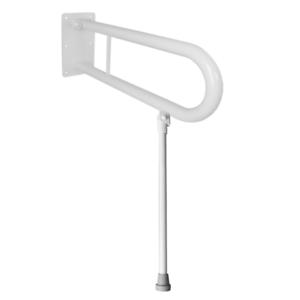 Haltegriffe Klappgriffe weiß für WC Waschbecken mit Stützbein 60 cm 32 m