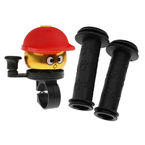 110mm Kids Bike Handlebar Grips Rubber Handle Grips Protector /& Ring Bell