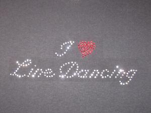 I-LOVE-LINE-DANCING-RHINESTONE-T-SHIRT-custom-pick-color-DANCE-DANCER