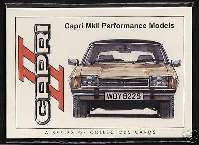 FORD Capri MKII 1974-78 carte da Collezione Originale 3000gt GHIA JPS 3000s X-Pack