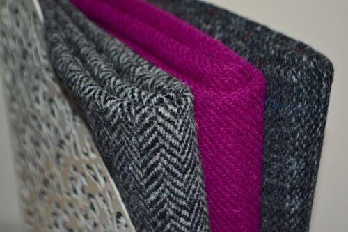 Harris Tweed Tela paquetes « grises gama/' 4 Tamaños Disponibles etiquetas y etiquetas Craft