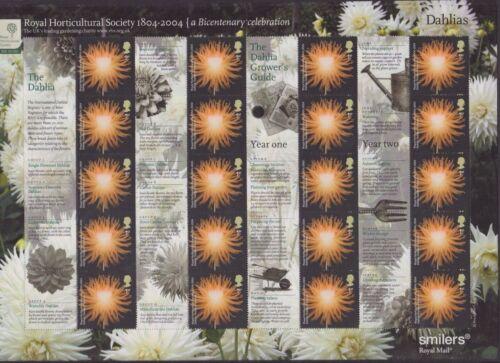 GB QEII SMILER STAMP SHEET UMM MNH 2004 LS19 ROYAL HORTICULTURAL SOCIETY FLOWERS