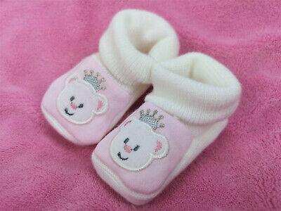 Pantau Babyschuhe Babyschühchen Taufschuhe Erstlingsschuhe Weiß mit Teddy Samt