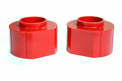 """Jeep Cherokee XJ 2/"""" FRONT Polyurethane Spacer lift Kit PAIR in RED 1984-2001"""