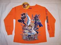 Yu Gi Oh Orange Long Sleeve Shirt Boys Child Large Size 10 Licensed Yugioh