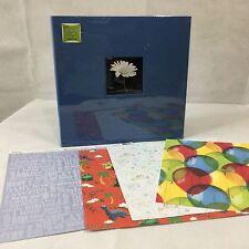 EZ Load 12 x 12 Light Blue Memory Book 20 Pages Acid Free Scrapbook Top Loading