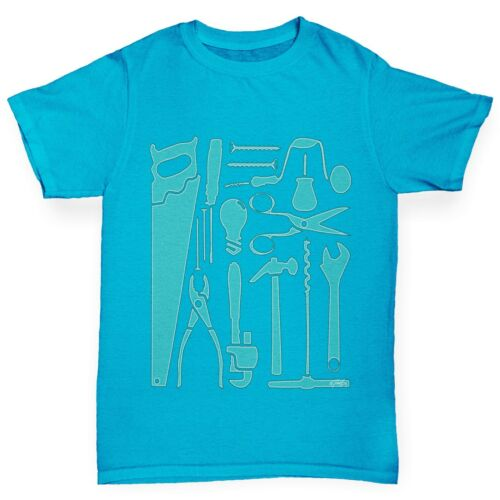 Twisted Envy Boy/'s Tools Of Mass Construction Printed Cotton T-Shirt