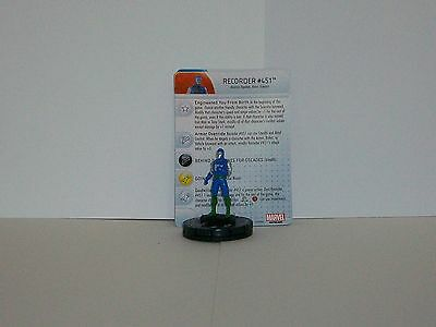 Heroclix Guardians of the Galaxy set Recorder #451 #013b Common figure w//card!