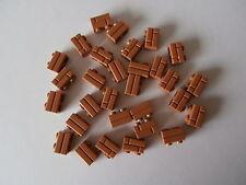 LEGO  30 x Mauerstein / Ziegelstein / Klinker 98283 medium nougat 1x2 Nop. NEU