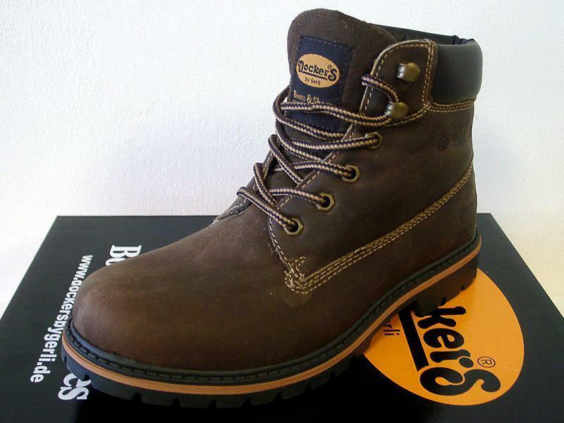Dockers 35CA001-400320 Stiefel Stiefel Schnürschuhe aus Leder braun  Gr.41-47 Neu9