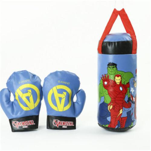 Kids Toy Set Punching Bag Ball Boxing Gloves Children Training Fitness Sport Set