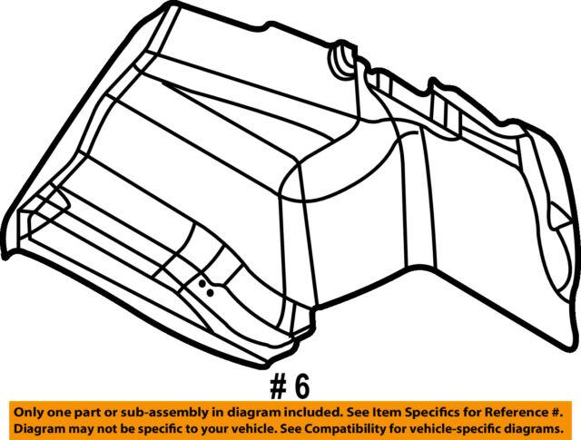 99 Bmw 325i Right Rear Trunk Trim Panel Tailgate Interior E46 2595