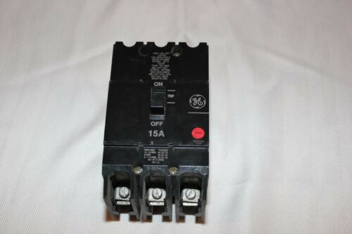GE Industrial Type TEY Breaker 15A Bolt On 3P 480//277VAC