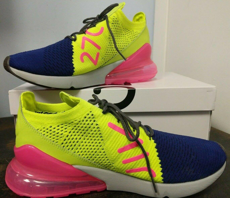official photos b5205 7dba7 Nike Air Max 270 Flyknit Regency Purple       Volt   Pink AO1023-501