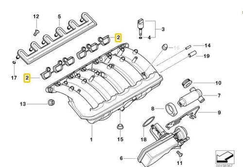 Intake Manifold Gasket Set for BMW E36 E39 E46 E60 E85 11611436631
