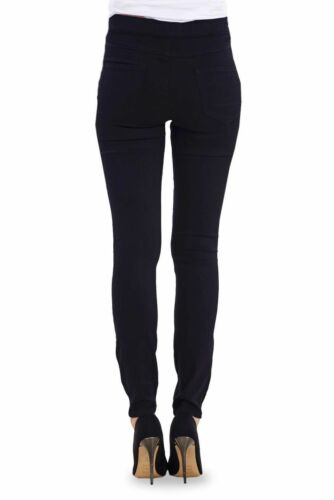 Ladies Pull On Skinny Black Jeggings Plus Size Womens Slim Fit Stretchy Jeans