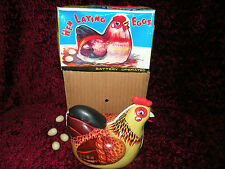 Hen Chicken lays eggs and moves  ME610 TOY Tin Vintage MINT NEW from Red China
