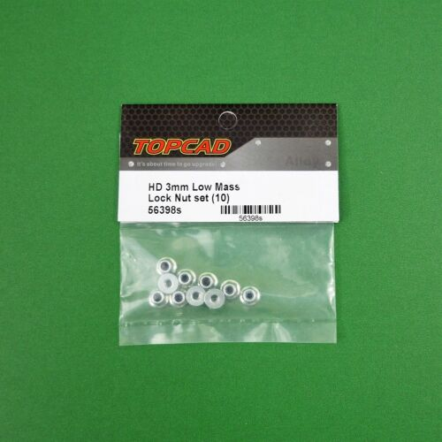 3mm Silver steel flanged lock nuts may suit Tamiya HPI Axial 1:10 RC anodised