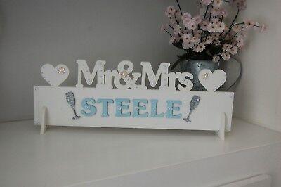 Signor E Signora Tavolo Signor E Signora Matrimonio Decorazione Sign (personalizzata Cognome)- Forte Imballaggio