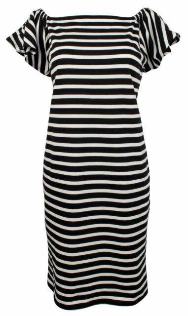 NWT Lauren by Ralph Lauren Women's Off-the-Shoulder Striped Dress, Sz XS