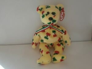 TY Retired Beanie Baby / Babies PINATA THE MEXICAN Bear MWMT