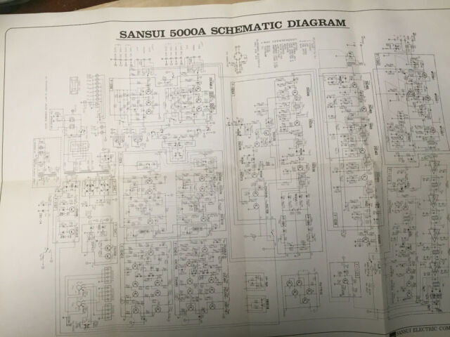 Schematic Diagram For The Sansui 5000a Receiver Service