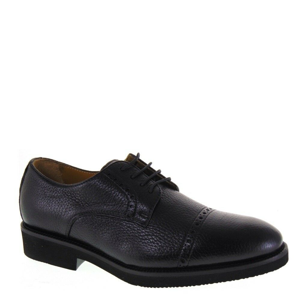VALLEverde 52822 zapatos INVERNALI hombres PELLE CERVO negro MADE IN ITALY
