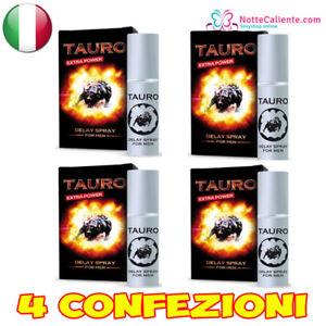 taurus ritardante  x4 SPRAY RITARDANTE TAURO EXTRA FORTE PER UOMO CONTRO EIACULAZIONE ...