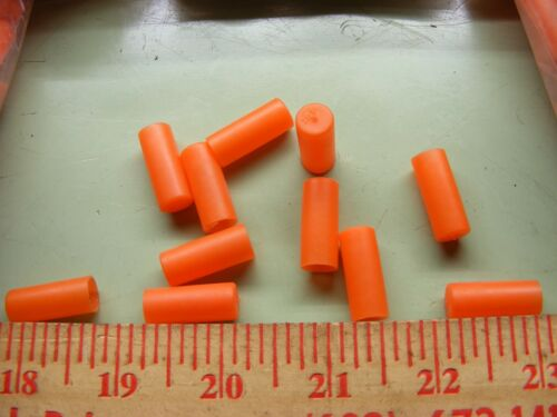 QTY 500 .312 SAFETY ORANGE PLASTIC PROTECTIVE END CAP COVER SLEEVE  PLUG 5//16