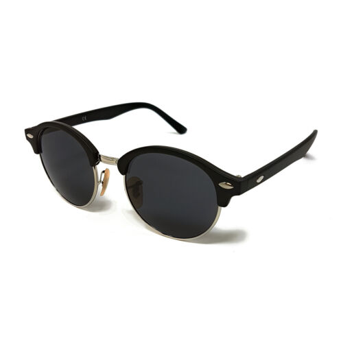 Specchiato opaco Nero argento tortoiseblack marrone bianco Womens Lens Uv Mirrored Round Black Vintage arcobaleno Mens Argento nero Ladies Sunglasses Circle xqfC6wCTg