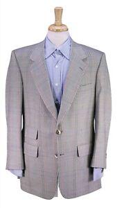 Vintage-Bespoke-Handmade-SY-FRIEDMAN-Brown-Olive-Plaid-Wool-Sportcoat-42R