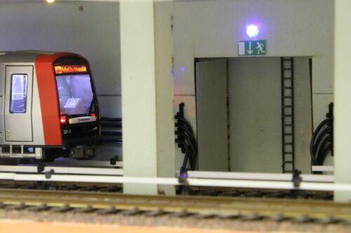 Stadt im Modell 9137 Lasercutbausatz U-Bahn Tunnel H0 1:87