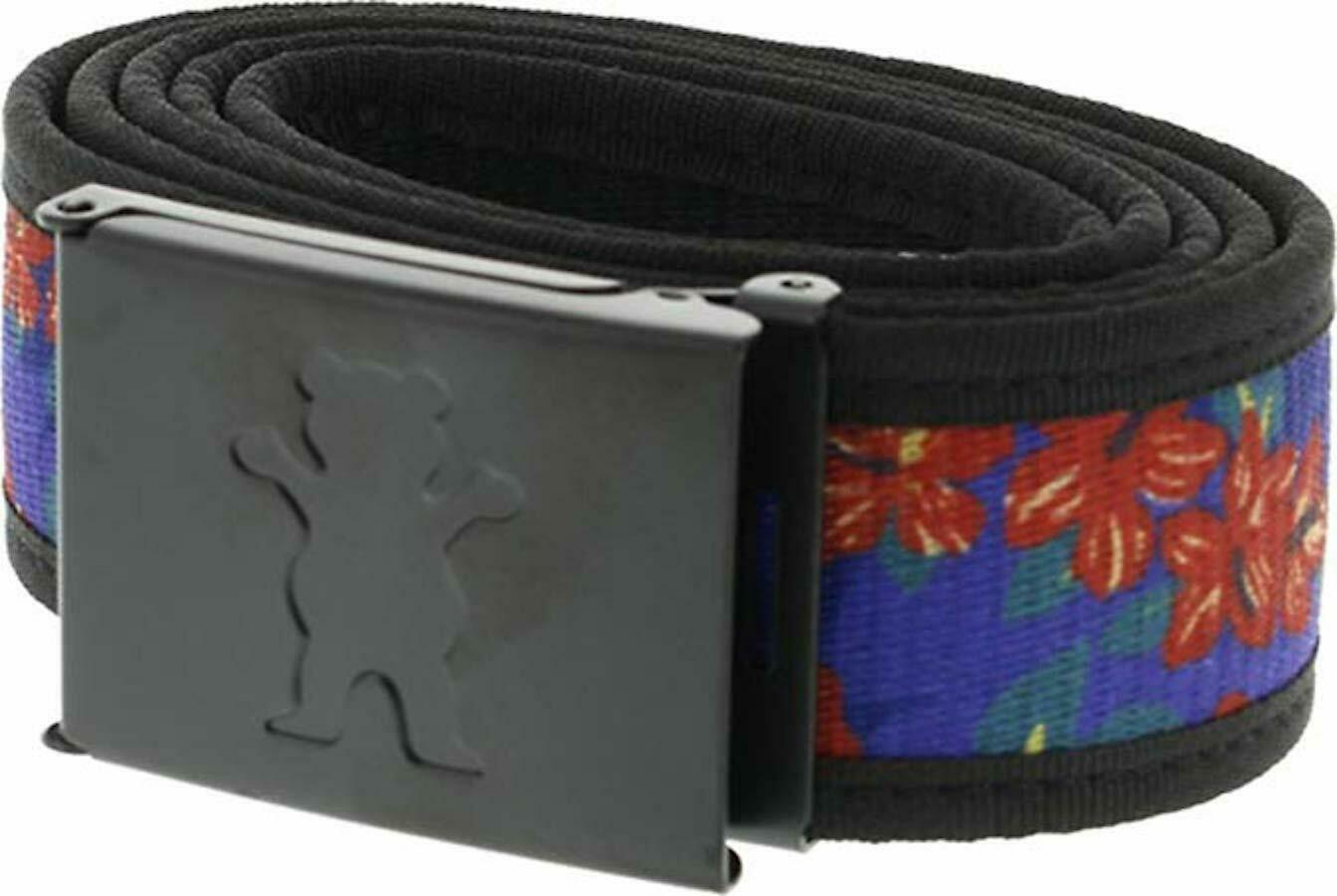 New Grizzly Griptape Co Tropical Black Tie Dye Clamp Mens Skate Belts RBCK-300